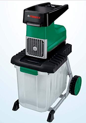 Ferrex Elektro Gartenhäcksler 2800 W Häcksler m. Fangbox 60 l/Leisehäcksler