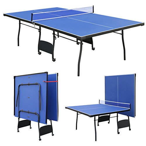 homelikesport 9 FT Folding Full Size Table Tennis Table Professional Rollaway Table Ping Pong Table