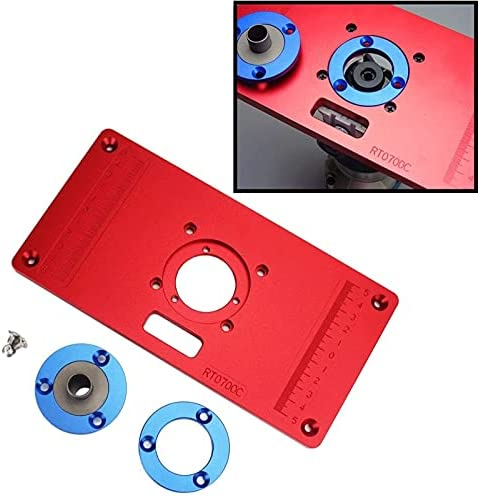 Bilichip Aluminum Router Table Insert Direct store W Price reduction R 2 Plate