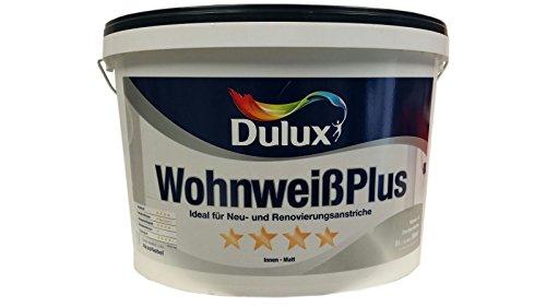 Dulux Wohnweiß Plus Wandfarbe & Deckenfarbe Weiß matt 8 Liter