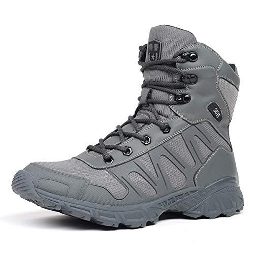 Treasu Herren verschleißfest atmungsaktiver Outdoor-Wanderstiefel rutschfeste dämpfende militärische Taktische Stiefel Lässige Kampf Schuhe im Sommer