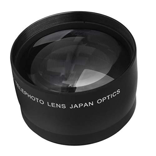 Baoblaze Teleconvertidor con Lente Telefoto 52x 2X para Nikon AF-S DX Nikkor 18mm-55mm DSLR