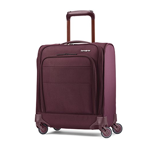 Samsonite Flexis Softside Underseat Carry-On with Spinner Wheels, Cordovan