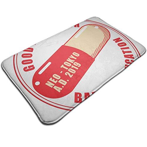 HUTTGIGH The Capsules Akira Neo Tokyo - Alfombrilla antideslizante para puerta de entrada, alfombra de baño, alfombra de cocina, alfombra de piso de 19.5 x 31.5 pulgadas, absorbente