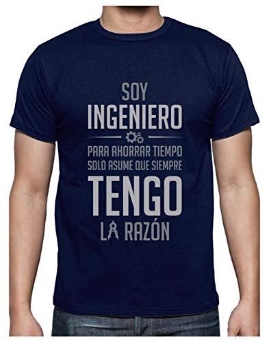 Green Turtle T-Shirts Camiseta para Hombre - Regalos para Ingenieros - Soy Ingeniero Asume Que Siempre Tengo la Razón Large Azul Oscuro