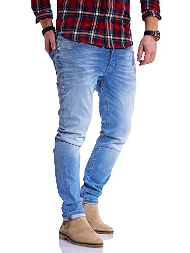 JACK & JONES Herren Jeans Glenn ARIS Slim Fit Stretch Denim (W32 L32, Light Blue Denim)