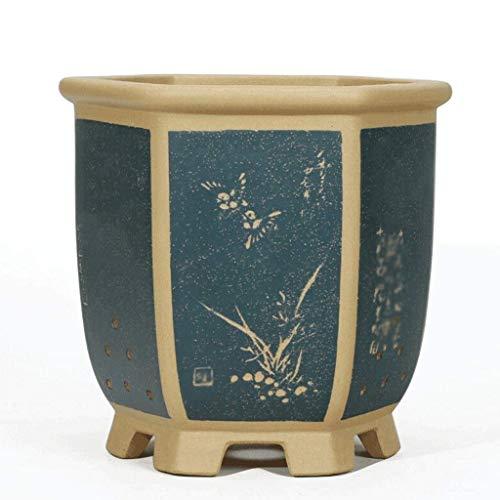 Pkfinrd Tuin bloempotten in Chinese stijl bloempot Home Decoration Crafts Tuin Aanplant keramiek paars zand pot 8 soorten plantenbakken & accessoires (kleur: D)