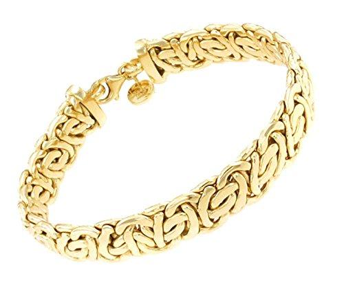 Pulsera Cadena Bizantino oval 18k oro doublé 13 mm 23 cm joyeria desde la fábrica italiana tendenze regalo mujer y hombre