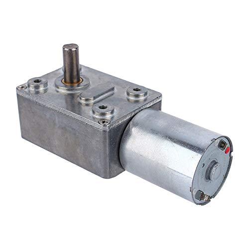 Motor de engranajes - Motor de caja de engranajes de caja de engranajes de tornillo sinfín reversible de alto par reversible 12V (tamaño : 62rpm)