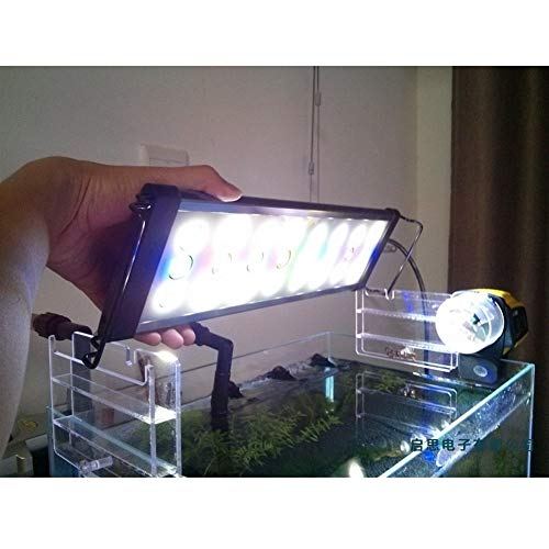 WML-LAMP Aquarium Light 1W Big LED-licht lamp 2 modi 40cm 50cm 60cm 90cm Wit Blauw Groen Rood Aquarium Led Light Aquarium, D300 30 40 cm tank.