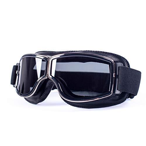 Outdoor bril Universele Motorfiets Vintage Goggles Pilot Motorfiets Scooter Bril Steampunk Goggles Voor Harley Helm