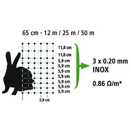 Kerbl 292216 Kaninchennetz 25 m, 65 cm Einzelspitz, grün - 4