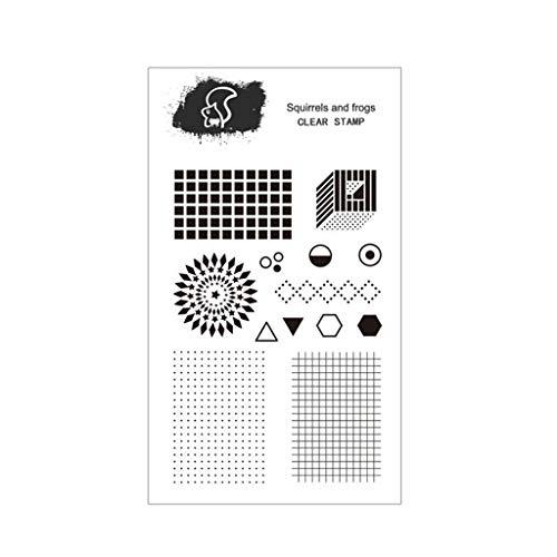 Matriz De Puntos Sello De Silicona Sello Claro DIY Scrapbooking Relieve Álbum De Fotos Tarjeta De Papel Decorativo Craft Art Regalo Hecho A Mano