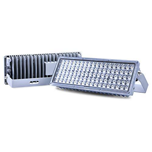 LED Strahler Flutlichter LED 100W Superhell Strahler Außen 10000lm Außenstrahler 6500K IP67 Wasserfest Flutlichtstrahler Kombinierbar zu 200W Fluter (2 Stücke)