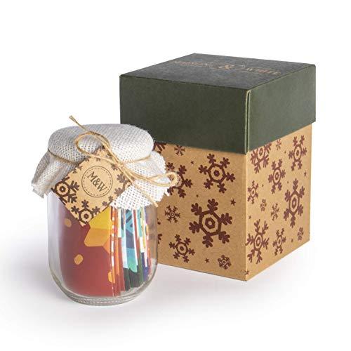 Mindfulness Jar | Adventskalender zonder chocolade | Feestelijk Mindfulness-cadeau | Dagelijkse gedachten en uitdagingen | M&W (adventskalender)