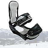 SCXLF Fijaciones de Snowboard, Fijaciones de Tabla Esquí Portátiles Duraderas, Equipo de Esquí Invierno con Almohadilla de EVA para Instalaciones de Esquí,L:(40~46)