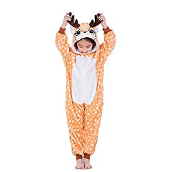 Suyu Unisex Children Animal Pajamas One-Piece Cosplay Sleepwear Onesies Pajamas Nightwear