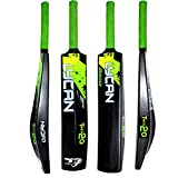 Lycan T20 Hard Plastic Cricket Bat for Tennis Ball, Wind Ball Size : Adult