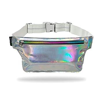 Fitter s Niche Holographic Rave Fanny Packs Shiny Slim Waist Belt for festival Parties Cute Fashionable Metallic Raver Bum Bags