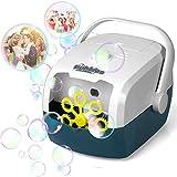 Seifenblasenmaschine, Leichte Tragbare Automatischer Bubble Machine Angetrieben von Batterie oder USB für Hochzeit, Geburtstagsfeier, Festival, Ideal als Geschenk