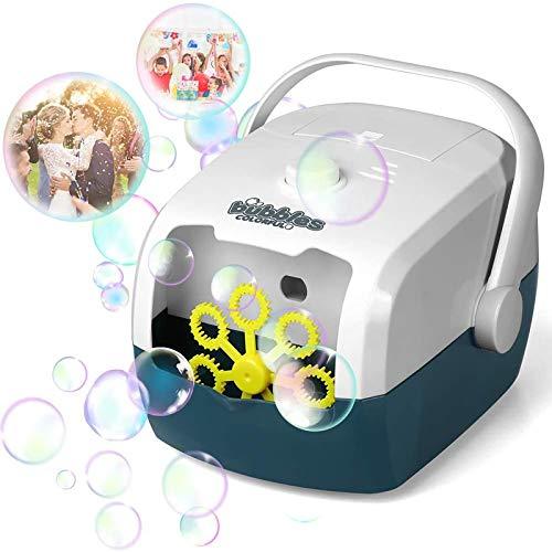 Macchina per bolle di sapone, leggera e portatile, alimentata a batteria o USB, per matrimoni, feste di compleanno, festival, idea regalo