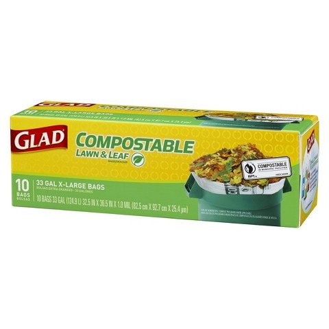 Learn More About Glad Compostable Lawn & Leaf Trash Bags 33 Gal 10 Ct