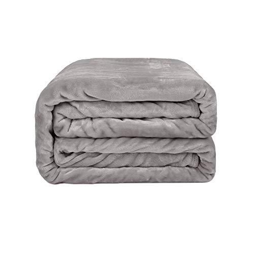 Monbix Throw Blankets Soft Fuzzy Warm, Fleece Blankets Couch Microfiber Plush, Throw Blankets Bed Fluffy Cozy Machine Washable - Platinum Queen Size