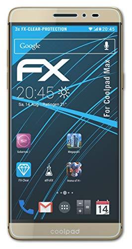 atFolix Schutzfolie kompatibel mit Coolpad Max Folie, ultraklare FX Bildschirmschutzfolie (3X)