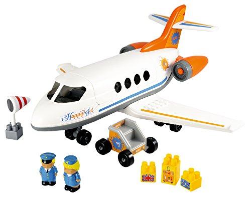 Jouets Ecoiffier- Avión Happy Jet con Dos Figuras (Ecoiffier 3045) Preescolar, Multicolor