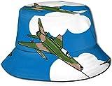 Cappelli a Secchiello Traspiranti a Forma Piatta Cappello Unisex a Forma di Rana a Forma di Cartone Animato Cappello da Pescatore Estivo-Camo Jet Plane Clouds Sky-One Size