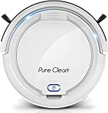 SereneLife Smart Automatic Robot Cleaner-1200 PA Rechargeable Electric Robo Vacuum Cleaner w, Self Programmed Navigation, Anti-Fall Sensors-Carpet, Hardwood, Linoleum, Tile- Pure Clean, White