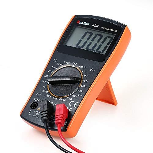 XUSHEN-HU Herramientas Multímetro digital - 1999 cuentas Mini múltiples funciones de multímetro digital multi medidor de mano del amperímetro del voltímetro medir la resistencia de CA de voltaje DC /