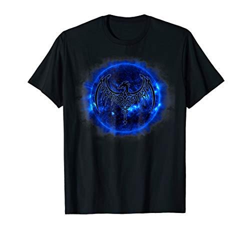 Celtic Dragon Blue Sun T Shirt Tattoo