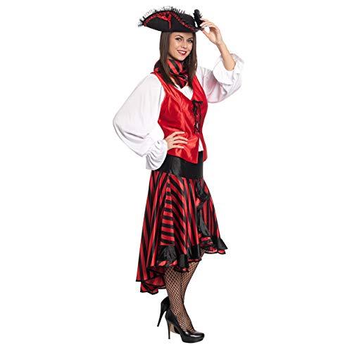 Kostümplanet® Piraten-Kostüm Damen Verkleidung Karneval Erwachsene Pirat Fasching Piraten-Kostüme Outfit Piratin Faschingskostüme große Größe 48/50