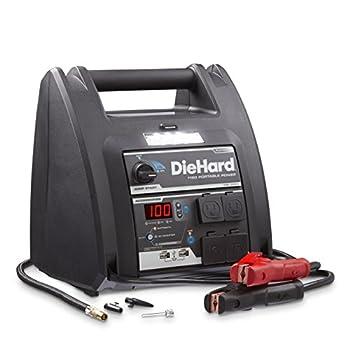 DieHard 71688 1150 Peak Amp 12V Jump Starter with USB/12V Portable Power Ports and 100PSI Air Compressor