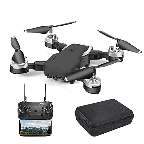 OBEST Drone Pieghevole, Videocamera HD 1080P da 5 Megapixel, Aereo WiFi FPV con Telecomando, quadricoptero con 3 modalità di velocità, modalità Senza Testa, Foto gestuale, Ritorno con Un Pulsante