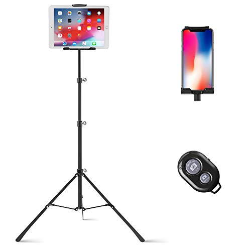 Raking Tablet Tripod,Portable Height Adjustable Tripod Stand,360 Degree...