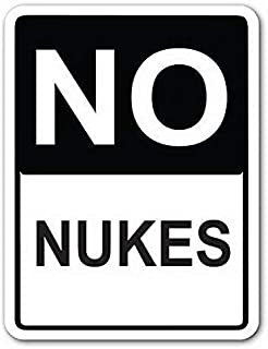 Jesiceny New Tin Sign No Nukes Street Sign Funny Pub Home Decor Aluminum Metal Sign Wall Decoration 8x12 INCH
