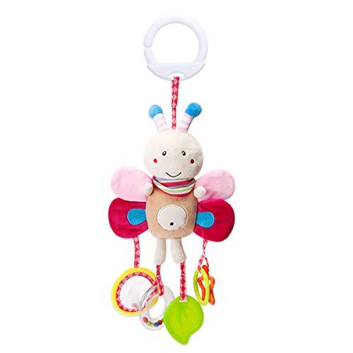 SONARIN 漫画の動物Pram とプッシュチェアぬいぐるみベビーおもちゃ、ベビーハンギングおもちゃベル、ベビーカー用おもちゃ、おでかけトイ、100%保証と 理想的なギフト(ビー)