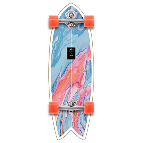 Coxos 31' Complete Surfskate YOW, serie Power Surfing, Multicolore