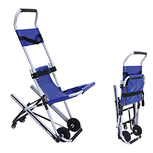 FJPAIPP Camillas enrollablessillas médicas Unidad de Transporte portátil Silla escaleras Silla de evacuación médica para Pacientes de Emergencia médica Silla de evacuación con 2 Ruedas,Azul