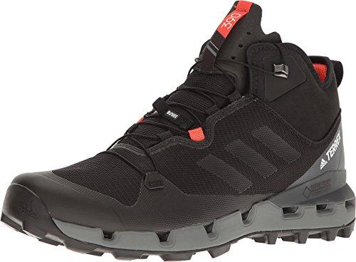 adidas outdoor Terrex Fast GTX-Surround Mid Hiking Boot - Men's Black/Black/Vista Grey, 8.0