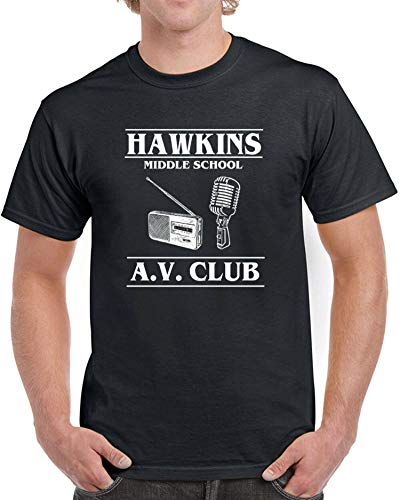 Doapee Hawkins Middle School AV Club Mens T-Shirt Stranger T
