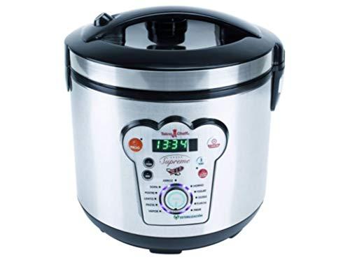 BE PRO Robot de Cocina Tekno Cheff Supreme. 14 menus 6 litros Cubeta Natural Stone, Programación 24 Horas