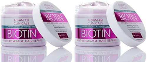 Advanced Clinicals Biotin Anti Breakage Hair Repair Mask Strengthen Broken Color Treated Hair product image