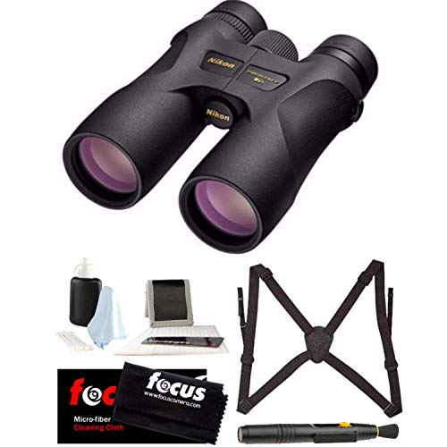 Nikon 16003 PROSTAFF 7S 10x42 Binocular (Black) Accessory Bundle
