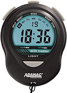 MARATHON ADANAC Glow Digital Stopwatch Timer with Back Light. Extra Large Display with Jumbo Numbers - Battery Included - ST083013 (Black)