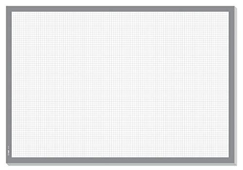 SIGEL HO260 Papier-Schreibunterlage zum Abreißen kariert, Notizblock, grau ca. DIN A2 - extra groß, 30 Blatt