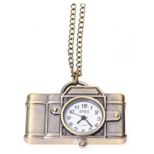 Katigan Reloj Collar Largo Colgante de Camara Estilo Antiguo - Bronce