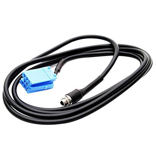 H HILABEE 1 Pieza de Cable de Audio Adaptador de Entrada AUX de 147 Cm Universal para Automóviles